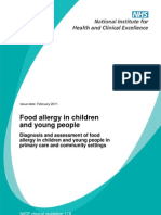 Food Allergy in Children and Young People