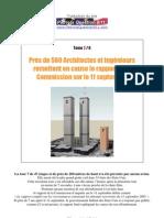 Près de 500 Architectes & Ingénieurs remettent en cause le rapport de la Commission sur le 11 Septembre