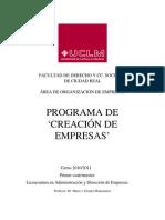 Programa Creacion de Empresas_ 2010-2011