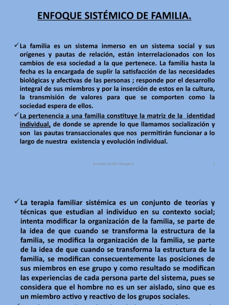 Enfoque sist mico de familia for Concepto de familia pdf
