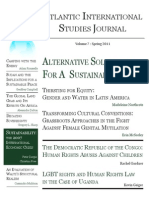 Atlantic International Studies Organization Journal Spring 2011 Front Cover
