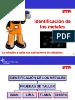 Identificación de los metales