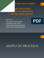 Equipo 4 Mapeo del proceso Células de manufactura Indicador visual (andon)
