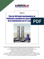 Plus de 100 Hauts fonctionnaires & Politiciens remettent en cause le rapport de la Commission sur le 11 Septembre