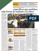 El Comercio 120511 Forum NNAs Violencia