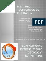 Equipo 3 Herramientas de La Manufactura Esbelta, Tiempo de Ciclo y Takt Time Justo a Tiempo, Jidoka, Sistema Jalar,Kanban