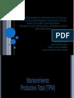 equipo 5 Mantenimiento productivo total, CONCEPTO DE PRODUCTIVIDAD TOTAL EFECTIVA DE LOS EQUIPOS, producción nivelada, verificación del proceso