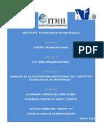 Analisis de La Cultura Organizacional Del Itm