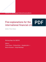 IPE Berlin - Five Explanations for the International Financial Crisis