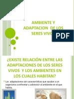 Ambiente y Adaptaciones 3 G