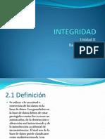 Base de Datos II Unidad 2, Integridad