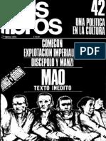 Beatriz -Saldo- Sarlo Defiende a Lopez Rega ( Revista Los Libros 42)