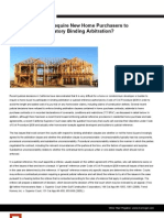 New Home Builders - Arbitration