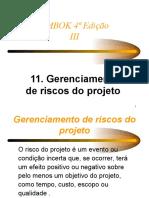 11 - PMBOK Cap11 Risco