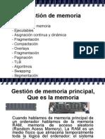 Administración de Memoria por el sistema operativo