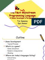 The Next Mainstream Programming Language