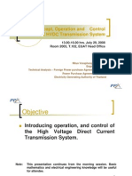 Basic Concept Operation and Control of HVDC Transmission System