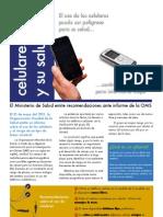 Ministerio de Salud emite recomendaciones para el uso del celular