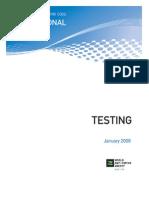 International standar for testing