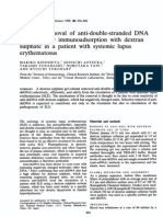 Removal of Anti Ds DNA by Immunoadsorption with dextran sulphate in SLE patient