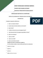 Preguntas cuestionario Excel