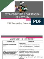 ESTRATEGIAS DE COMPRENSIÓN DE LECTURA