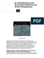 Parerga y Paralipomena corto volumen de ensayos filosóficos uno por Arthur Schopenhauer - Averigüe por qué me encanta!