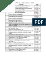 Gujarat Engineering Admission Schedule 2011