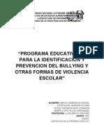 Programa Educativo de Bullying y Otras Formas de Violencia