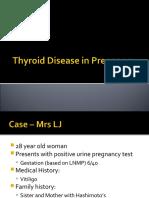 Thyroid Disease in Pregnancy