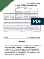 11 05 1198-00-000t TX Evm Metric in Conductive Setup