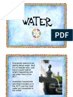 Water Power Point Presentation for the ACT Years 5 and 6