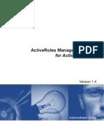 Active Roles MgmtShellForAD 14 Admin Guide English