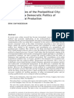 The Antinomies of the Postpolitical City:In Search of a Democratic Politics ofEnvironmental Production