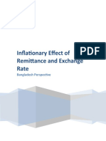 Inflationary Effect of Remittance and Exchange Rate