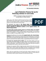 Maruti - Mahindra Auto Finance Article (2006)