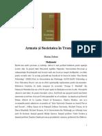 Armata Si Societatea in Tranzitie