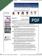 DEA Diversion Control - Practitioner's Manual - APPENDIX B