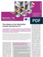E Bridge Bulletin 12 - The mission of an information society backed by ICT