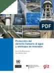 Protección del derecho humano al agua y arbitrajes de inversión