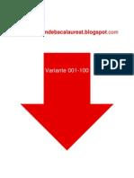 Romana - Subiectul II - Variante 001-100 - 2009