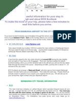 Edinburgh and ECS Information 2012