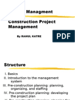 Construction Project Management by Rahul