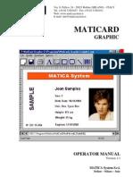 MatiCard Graphic Operator Manual
