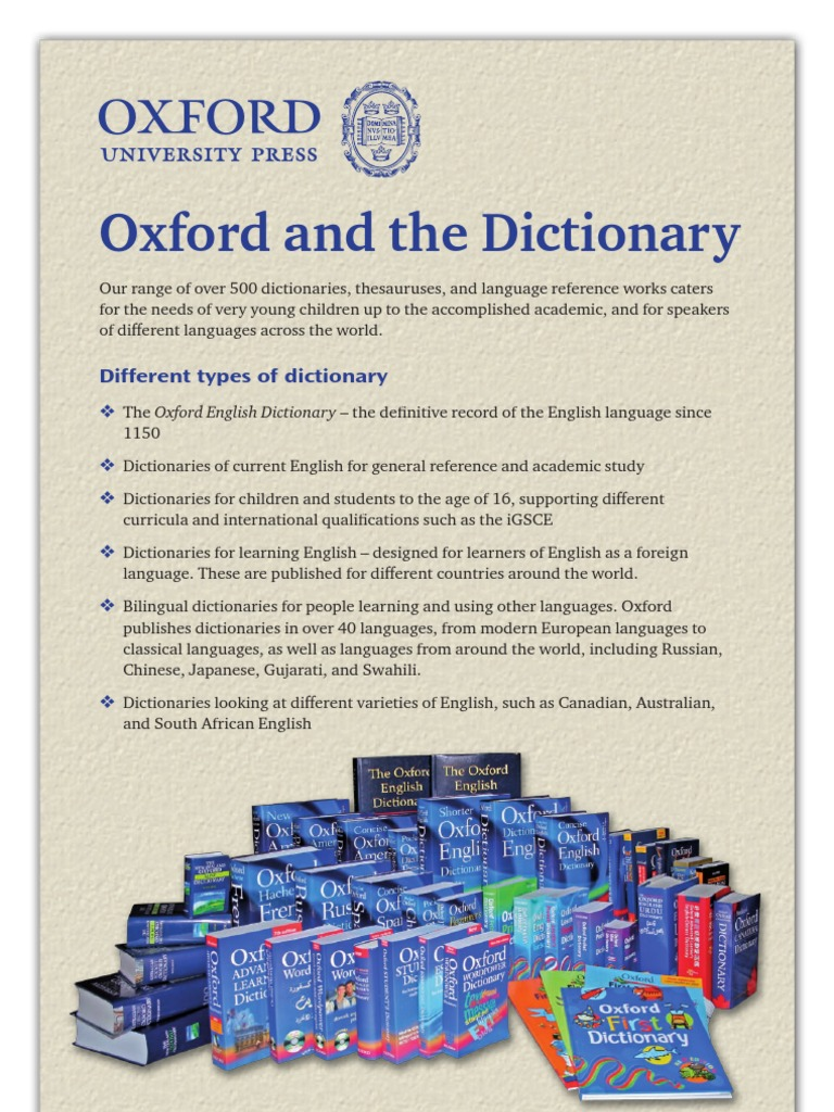 Latest Oxford English Dictionary Pdf