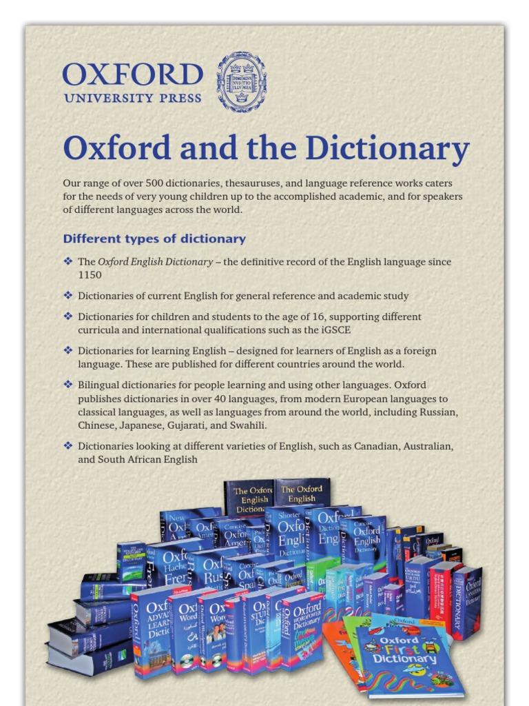 Latest Oxford English Dictionary Pdf