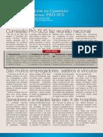 Boletim da Comissão destaca ações do movimento médico