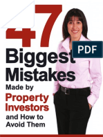 47 Biggest Mistakes Property Investors Make