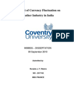 Impact of Currency Fluctuation on Leather Industry in India