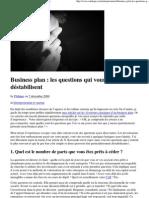 business plan_questions qui déstabilisent